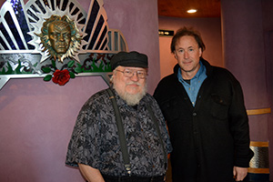 Hampton and fellow Santa Fe author George RR Martin